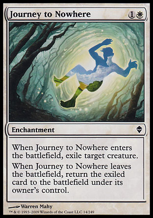 Journey to Nowhere Magic the gathering card